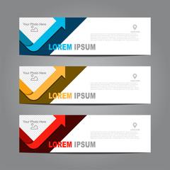 Design horizontal template flyer banner. Vector illustration.