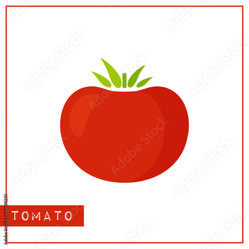 Bright memory training card with color vegetable  Flat design