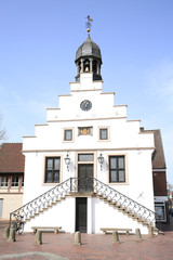 The historic City Hall of Lingen (Ems) in Lower Saxony, Germany