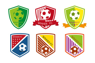 Soccer Football Club Badge Logo Set