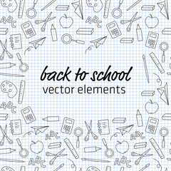 back to school - vector elements