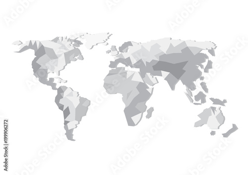 Flat design vector world map silhouette isolated on white background flat design vector world map silhouette isolated on white background europe asia australia gumiabroncs Images