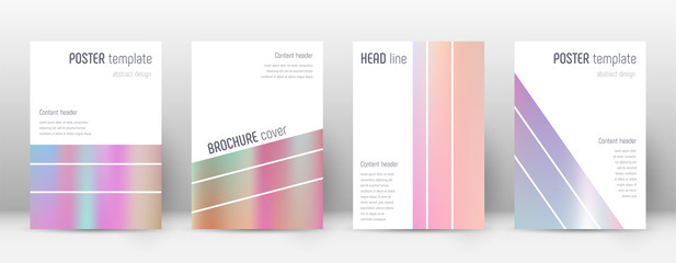 Flyer layout. Geometric nice template for Brochure, Annual Report, Magazine, Poster, Corporate Presentation, Portfolio, Flyer. Alluring pastel hologram cover page.
