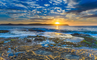 Sun Rising Vivid Seascape