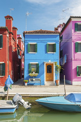 Fototapete - Colorful residential house in Burano island, Venice, Italy.
