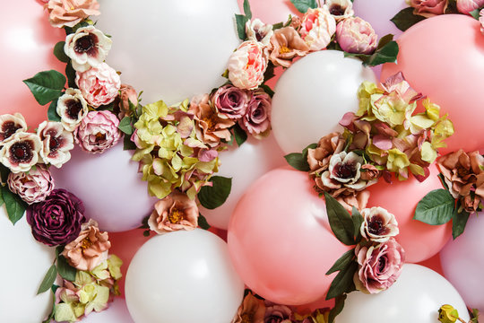 Image of set from balls and flowers