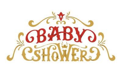 Vector Baby Shower Lettering.