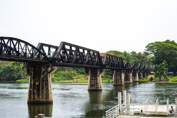 The Bridge Over the River Kwai in Kanchanaburi, Thailand