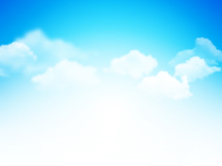 blue sky with clouds abstract vector background