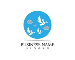 Swan logo design vector illustration