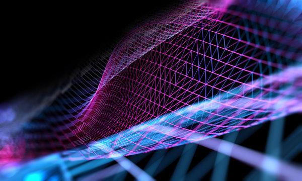 Fondo abstracto de ciencia y tecnología.Maya o red y patrón de lineas.