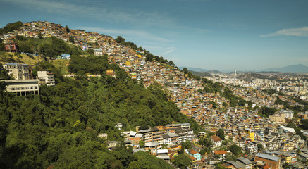 Fotomurales - Favela Morro dos Prazeres in Rio de Janeiro, Brazil