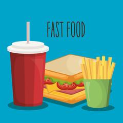 delicious fast food icon vector illustration design