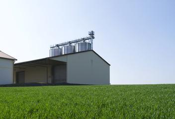 Agriculture: Round grain silo