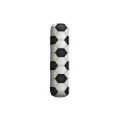 Soccer ball texture capital letter I. 3D Rendering