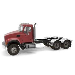 Single Truck isolated on white. 3D illustration