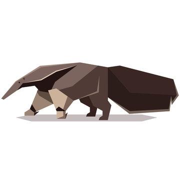 Flat polygonal Giant anteater