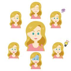 15シリーズ_欧米の女性_表情