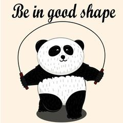 Vector Panda, illustration panda, vector illustration