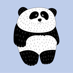 Vector Panda, illustration panda, vector illustration