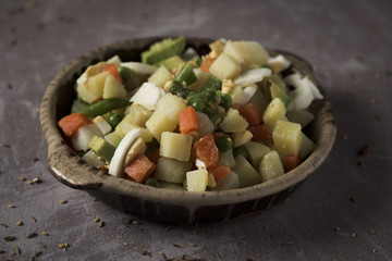 menestra, spanish cooked mixed vegetables.