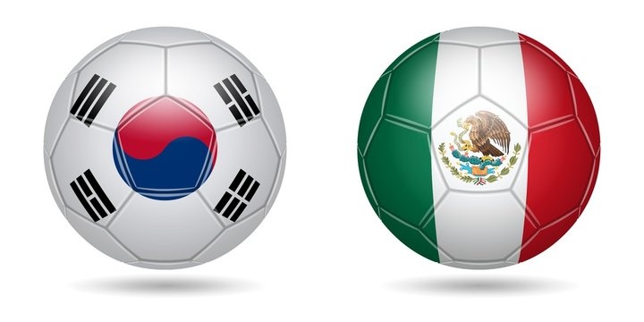 Football. 2018. South Korea, Mexico