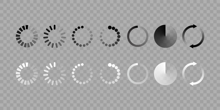 Load icon vector isolated set