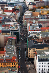 Berlin cityscape with tilt shift effect