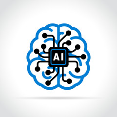 artificial intelligence icon on white background