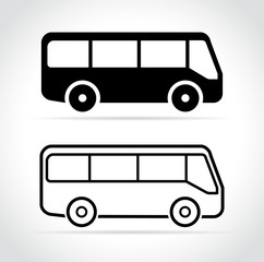 bus icons on white background