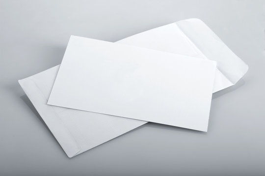 White Envelope and Invitation Card Mockup