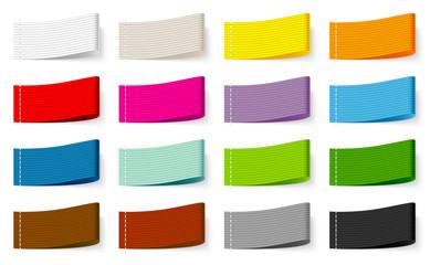 Textile Label Set Color Mix Stripes