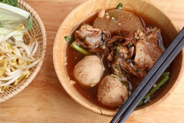 Stewed pork soup with meatball