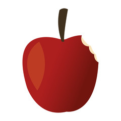 Apple fruit cartoon vector illustration graphic design