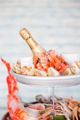 Printed kitchen splashbacks Seafoods Plateau de fruits de mer
