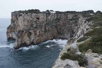 Cliff in Cala en Porter, Menorca, Balearic Islands, Spain