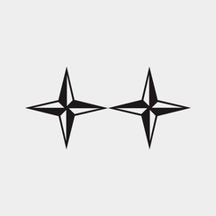 star logo for winner or points of the compass