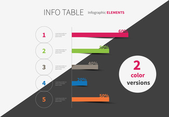 Bar Graph Infographic with Bright Accents Layout