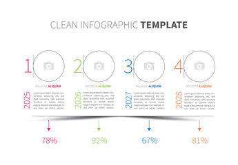Infographic Layout with Circular Photo Placeholders