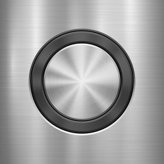 Fototapete - Metal technology background with abstract circle bevels and polished, brushed texture, chrome, silver, steel, aluminum for design concepts, web, prints, wallpapers, interfaces. Vector illustration.