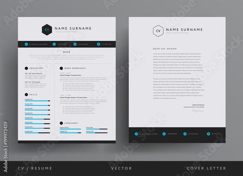Professional Cv Resume Template Design And Letterhead Cover Letter