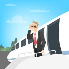 Businessman on airport.