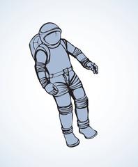Cosmonaut. Vector drawing