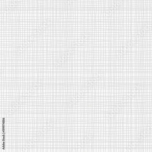 Grey Canvas Burlap Texture Seamless Checkered Pattern Gray Linen Fabric Textile Vector Background