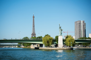 The Eiffel tower and the Seine river
