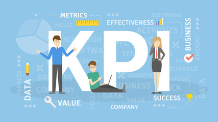 KPI concept illustration.