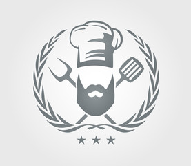 Cooking grill logo