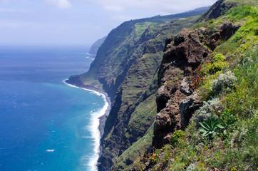 Coast of Madeira island, Ponta do Pargo, Portugal
