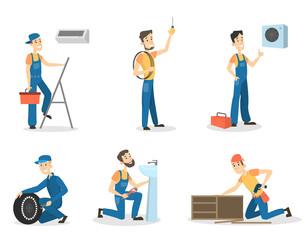 Men workers set.