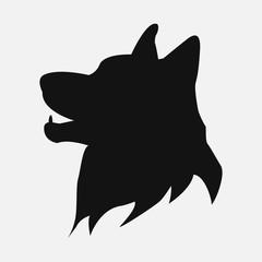 Vector illustration of dog logo